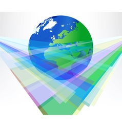 Radiant colors with global background vector image