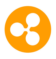 ripple icon for internet money crypto currency vector image