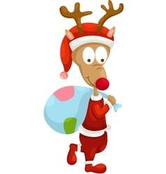 santa deer vector image