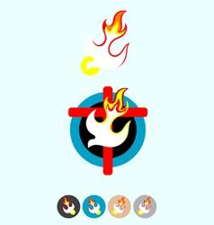 Set icon holy spirit vector