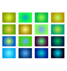 set of gradient backgrounds blurred green shades vector image