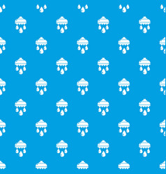 shower head pattern seamless blue vector image