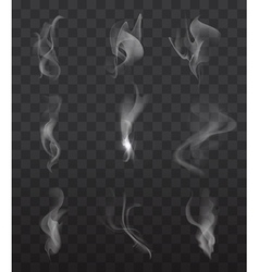 Smoke signs set vector