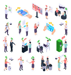 social rating icons collection vector image