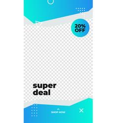 Super deal 20 off discount promotion transparent vector