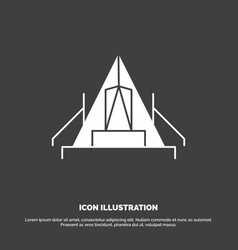 Tent camping camp campsite outdoor icon glyph vector