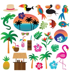 tropical clipart vector image