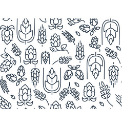 Twigs hop seamless pattern vector