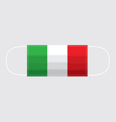 viruses covid-19 spread in italy mask protect face vector image