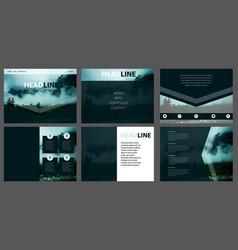 web template corporate website design vector image