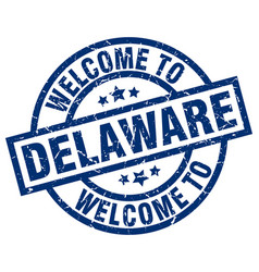 Welcome to delaware blue stamp vector