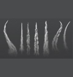 Airplane condensation trails jet trailing smoke vector