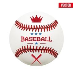 baseball leather ball vector image vector image
