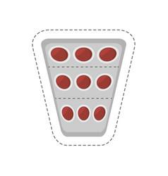 cartoon medical pills pharmacy icon vector image vector image