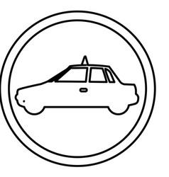 Figure symbol taxi side car icon vector