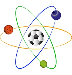 Football atom design vector image vector image