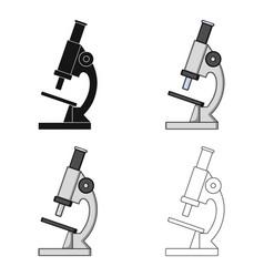 microscopemedicine single icon in cartoon style vector image vector image