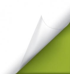 Page corner vector