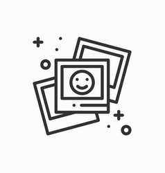 photograph line outline icon photo picture vector image