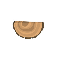 piece of felled tree with growth rings vector image vector image