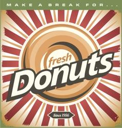 Retro Donuts Poster vector image vector image