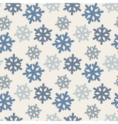 seamless pattern with colorful snowflakes in blue vector image vector image