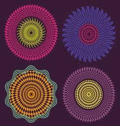 spring meditation elements vector image vector image