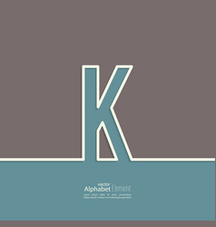 The letter of the alphabet vector image vector image