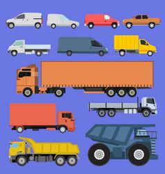 trucks set vector image