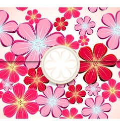 Floral greeting card invitation template vector image vector image