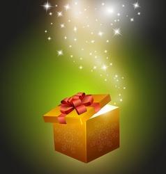 golden gift box vector image
