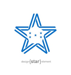 monocrome star with Honduras flag colors and vector image