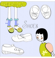 template with shoes element vector image