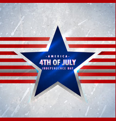 american 4th of july background vector image vector image