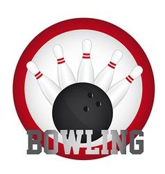 Bowling logo vector image vector image