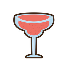 cartoon glass cup cocktail drink vector image vector image