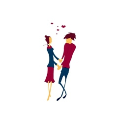 Couple in love lovers vector image