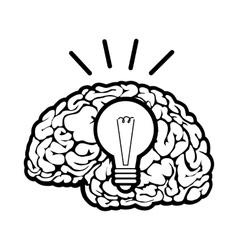 Human brain sign vector image vector image