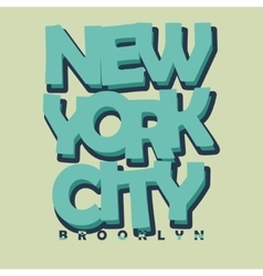 New York City Typography T-shirt Printing Design - vector image