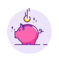 piggy bank simple vector image