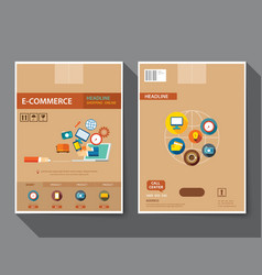 set of e-commerce magazine cover vector image