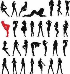 sexy woman black vector image