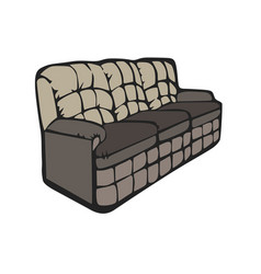 sofa furniture room couch interior design grey vector image vector image