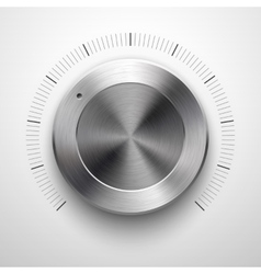 Abstract Technology Volume Knob with Metal Texture vector image vector image