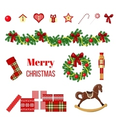 big christmas set vector image