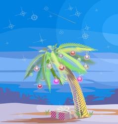 Christmas palm V vector image