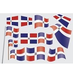 Dominican Republic Flag vector image