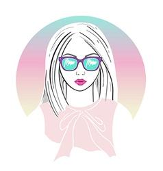 fashion girl 314 vector image