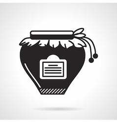 Jam jar black icon vector image