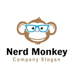 Nerd Monkey Design vector image vector image